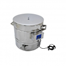 Stainless steel container with heating, 50L (for decrystallization) - Bišulietas.lv