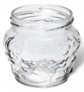Glass jar, screwable 215ml - Bišulietas.lv